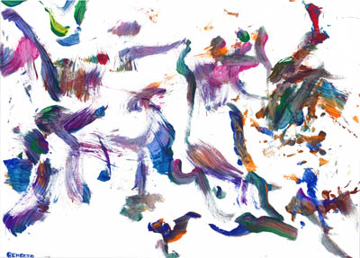 2011-01 Painting by Benecio, Blue & Gold Macaw